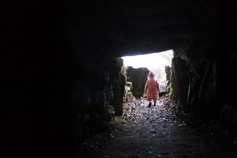 馬越長火塚古墳の横穴式石室入口