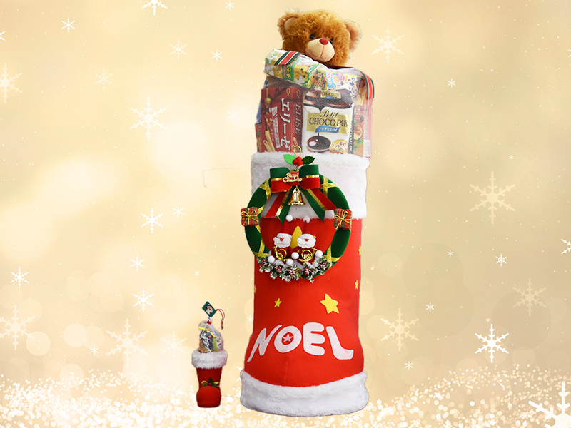 全長1m以上のクリスマスブーツ